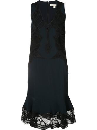 dress women spandex lace blue