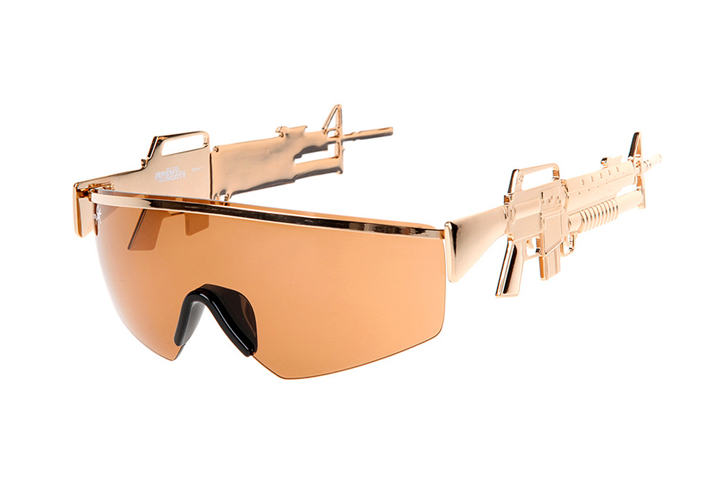 Jeremy Scott x Linda Farrow Golden Gun Sunglasses | Hypebeast