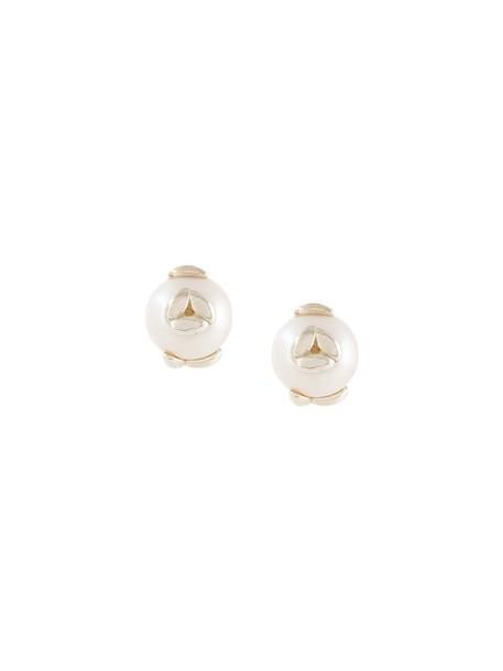 BEA BONGIASCA women earrings stud earrings silver grey metallic jewels