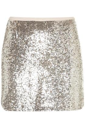 Sequin Mini Skirt - Topshop