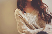 sweater,knitted sweater,cozy,heavy knit jumper,cute,knit,sweater weather,unlimited clothes,winter sweater,fall sweater,cream,beige sweater,oversized sweater,cute sweaters,cream sweater,knitwear,pull,tumblr,girly,pretty,hair,winter outfits,fall outfits,oversized,brand,style,fashion,cotton,pattern,girl,brunette,creme,soft,cozy sweater,tank top,white,black,long sleeve dress,long sleeves,leggings,lace dress,lace up,strick,pullover,warm,cardigan,beige,autumn/winter,long hair,wavy hair,jumpsuit,white jumper,big,comfy,tumblr girl,weheartit,beautiful
