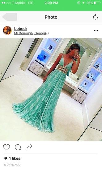dress prom dress maxi dress mint dress