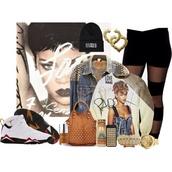jacket,rihanna,sweater,pants,shoes