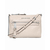 White MICHAEL Michael Kors Small Devon Patent Messenger Bag