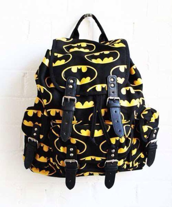 bag batman black yellow