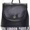 "Romwe | romwe ""londonparis"" stitching black backpack, the latest street fashion"