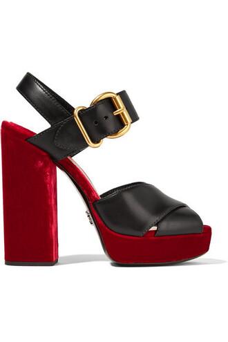 sandals platform sandals leather velvet shoes