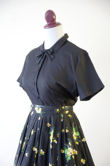 floral skirt navy blue dress