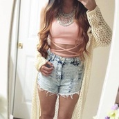 shorts,high waisted,denim,acid wash,crop,cropped,top,tank top,shirt,t-shirt,bra,bralette,necklace,jewels,boho,boho chic,bustier,corset top,cardigan,crochet,beige,winter outfits,summer outfits,blouse,jacket,classy,style,ripped jeans,High waisted shorts,denim shorts,lace up,cut off shorts,cut offs,circle necklace,sheer,knitted cardigan,knitwear,fall outfits,denim jacket,streetwear,streetstyle