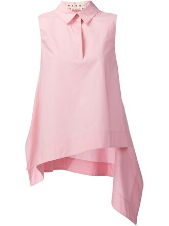 top sleeveless purple pink