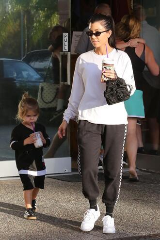 sweater sweatshirt sweatpants sneakers kourtney kardashian kardashians