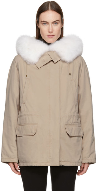 Army By Yves Salomon parka short fur classic pink coat