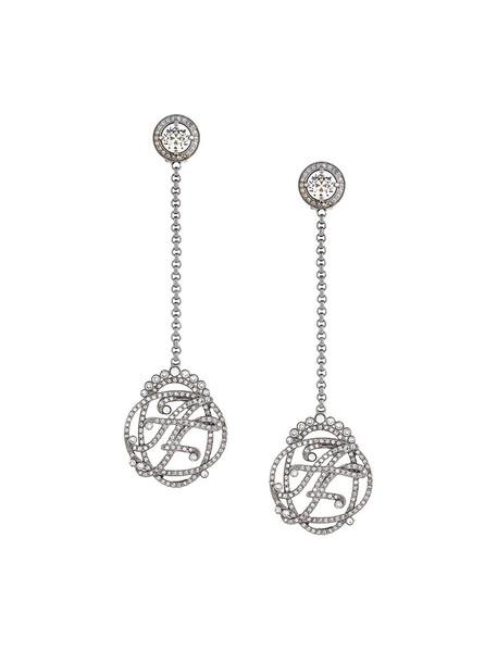 Alberta Ferretti women earrings grey metallic jewels