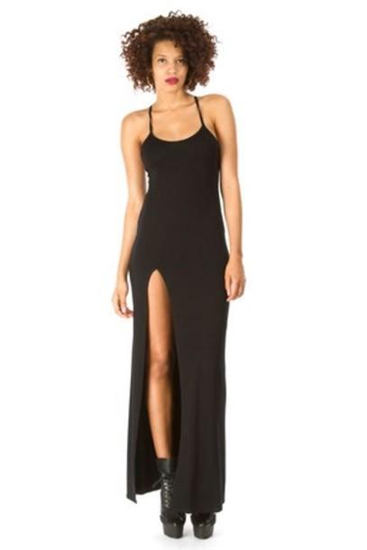 dress rhianna slit dress