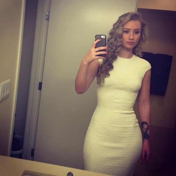 iggy azalea white dress bodycon dress dress