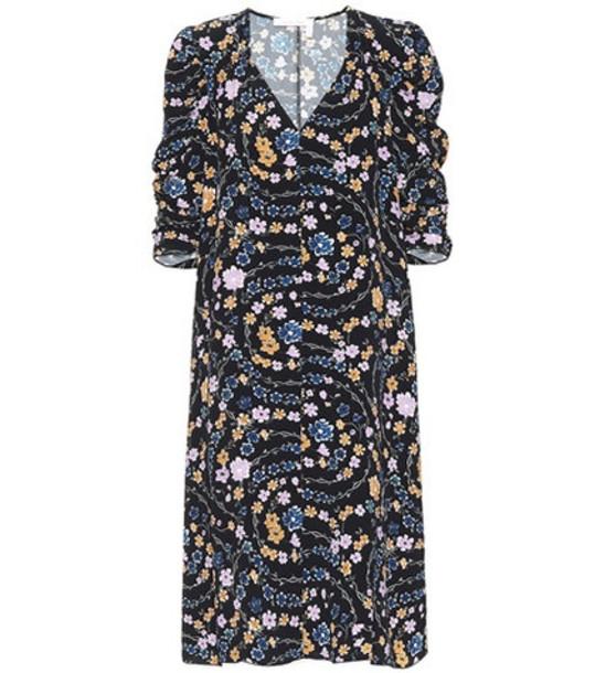 See By Chloé Floral-printed dress in black