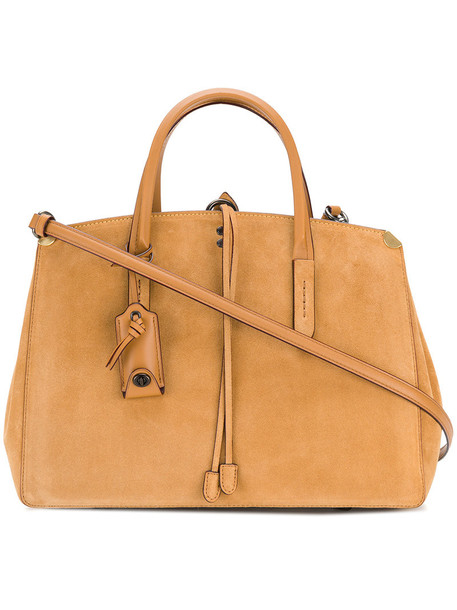 coach women bag suede brown