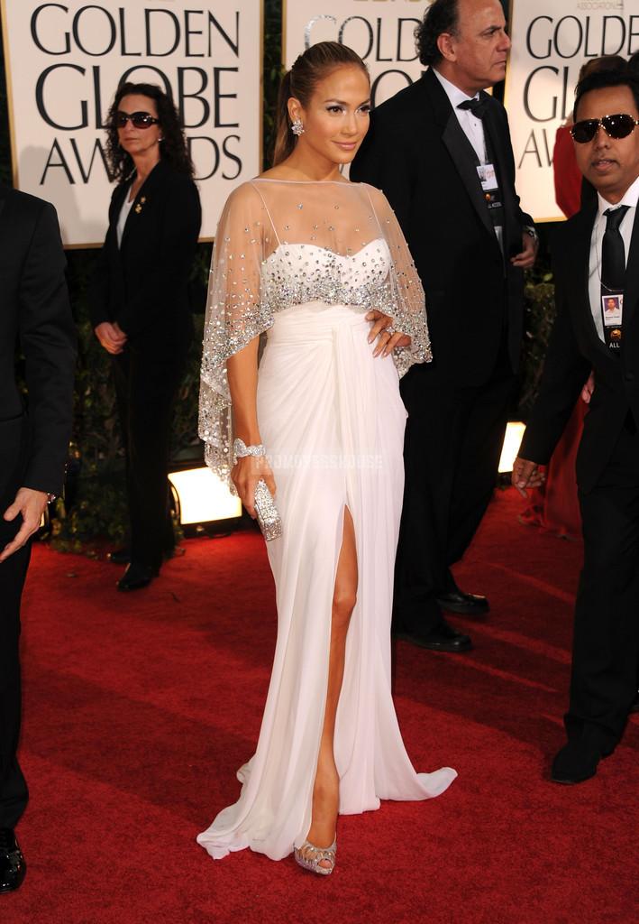 White Glamorous Spaghetti Straps A-line Chiffon Celebrity Dress - Promdresshouse.com
