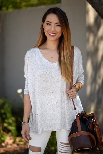 hapa time blogger top bag jewels shoes