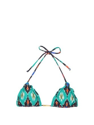 bikini bikini top triangle bikini triangle green swimwear