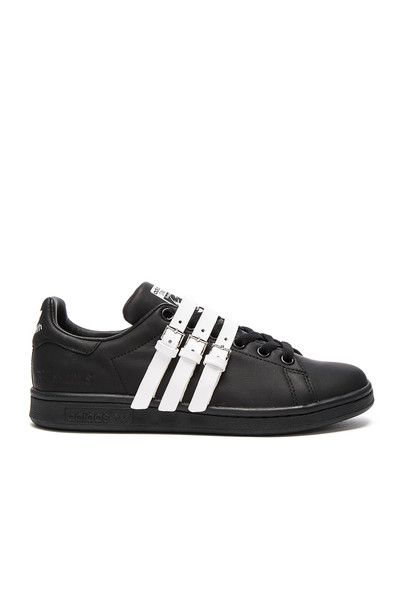 adidas by Raf Simons Stan Smith Strap Sneaker in black / white