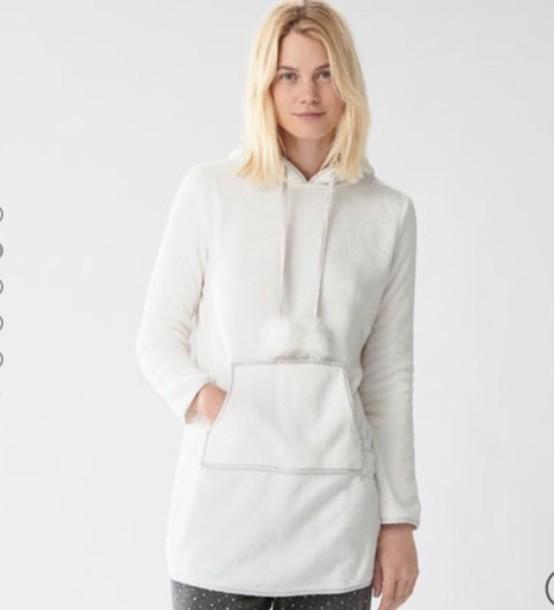 pajamas hoodie white hoodie