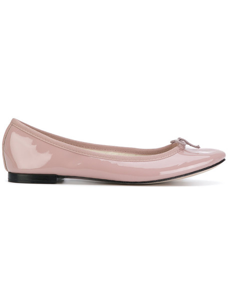 Repetto bow women shoes leather purple pink