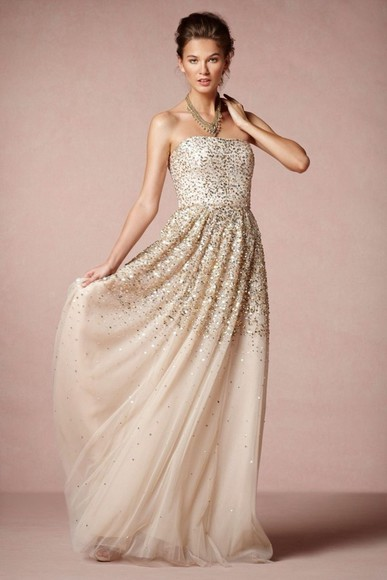 gold gold sequins dress prom dress