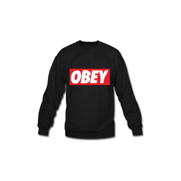 Obey Long Sleeve Shirts | Men's Crewneck Sweatshirt designed by TGIFClothing | Spreadshirt | ID: 8059426