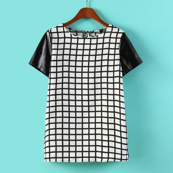 t-shirt top cool t-shirt checkered squares