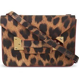 bag leopard print satchel bag shoulder bag envelope tote