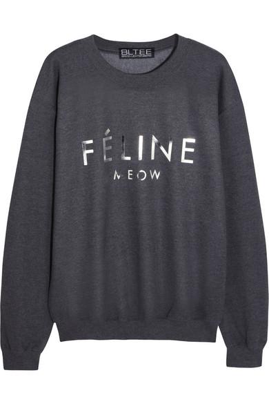 Brian Lichtenberg|Féline cotton-blend jersey sweatshirt|NET-A-PORTER.COM