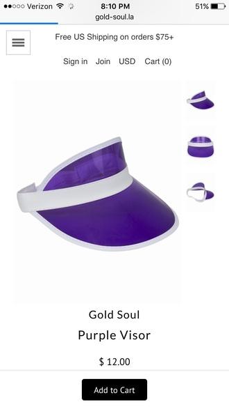 hat visor purple visor visor hats