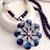 [grxjy5100314]Fashion Rhinestone 3D Crystal Flower Pendant Necklace