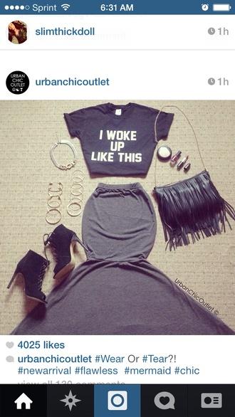 shirt beyonce black black crop top crop tops skirt