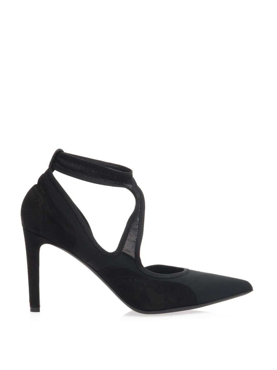 Mesh and suede pumps | Balenciaga | MATCHESFASHION.COM