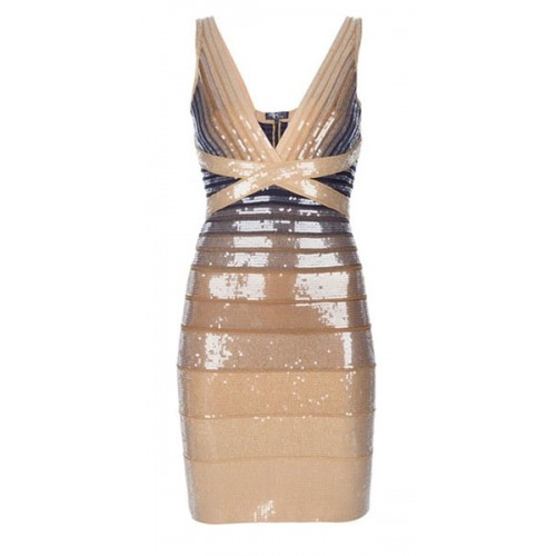 Sexy amazing Herve Leger Pilar Sequined Ombre Dress,only $239