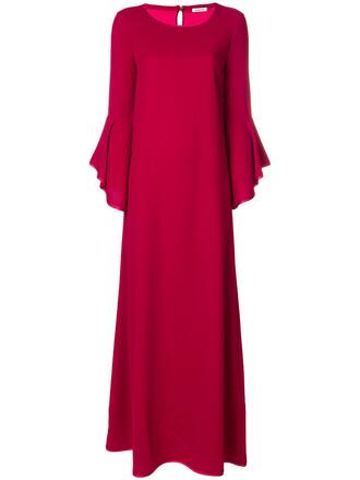 gown women red dress