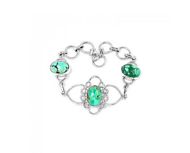 Handmade 925 sterling silver Turquoise Bracelet