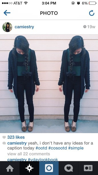 Cardigan Cropped Sweater Black Emerald Green Urban Outfitters