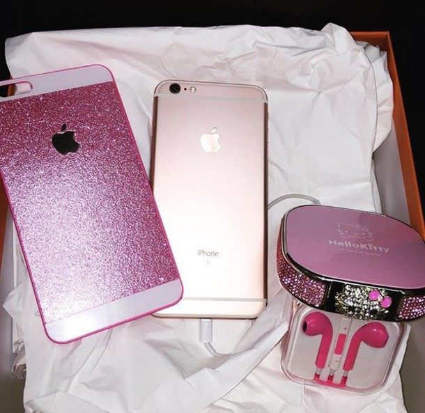 new concept dedcb 7e613 Amazon.com: iPhone 6 Plus Case , Luxury Hybrid TPU Hard Shiny Bling Glitter  Sparkle With Crystal Rhinestone Cover Case Pink: Cell Phones & Accessories