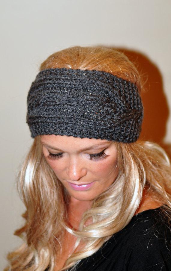 Ear Warmer Wool Crochet Headband Knit Head Wrap Braided By Lucymir