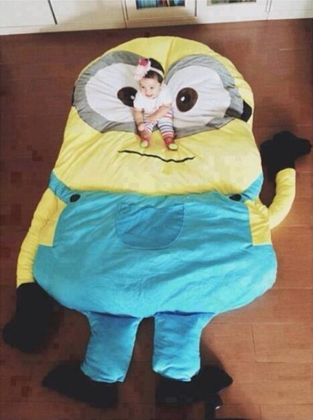 bag bean bag despicable me tumblr bedroom bedding minions