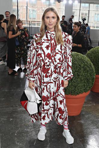 dress nike sneakers blogger long sleeves pernille teisbaek fashion week fashion week 2016