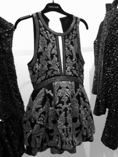 dress,sequins,short,evening dress,black dress,glitter dress,little black dress,black sexy dress,roberto cavalli,designer,formal dress,black,cut-out dress,clothes,style,chic,classy,gorgeous dress,embellished,couture dress,party outfits,party dress,jumpsuit