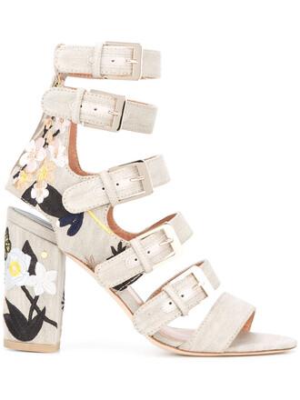 women sandals leather nude cotton shoes
