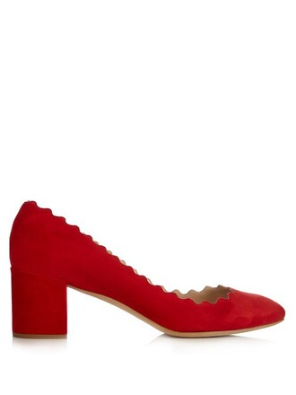 heel suede pumps pumps suede red shoes