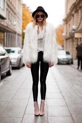 jacket fur white white fur coat clothes white fur jacket