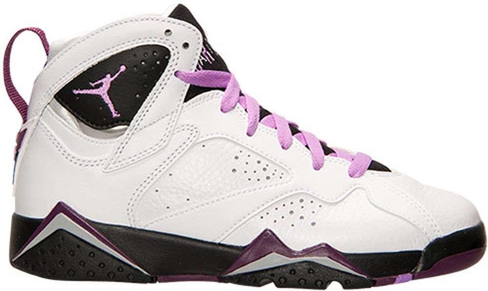 on sale 719b3 6167f Nike Air Jordan 7 Retro GP Girls Size 3Y - White/Fuchsia Glow-Black-Mulberry