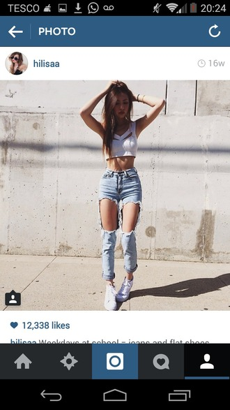jeans blue jeans ripped jeans distressed denim instagram